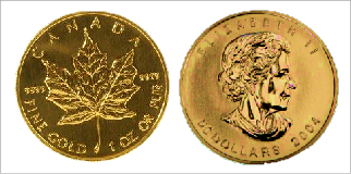 Canadian Gold Maple Coins