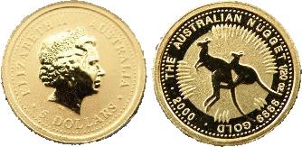 Australian Gold Nugget Coins